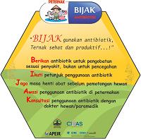 Stiker AMR BIJAK Antibiotik Peternakan