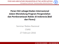 02_Luuk Schoonman_Peran FAO ECTAD Indonesia Rabies