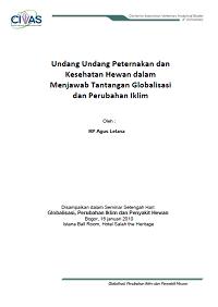 Artikel UU Nakeswan, Perubahan Iklim dan Globalisasi_RP Agus Lelana