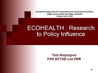 ECOHEALTH  Research, Siem Reap, 18-22 October 2010_Tri Satya Putri Naipospos