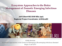 Ecosystem Approaches to the Better Management of Zoonotic Emerging Infectious Diseases_Jeff Gilbert