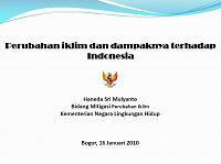 Perubahan iklim dan dampaknya terhadap Indonesia_Haneda SM