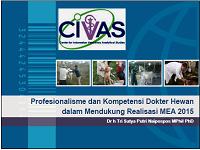 Profesionalisme dan Kompetensi Dokter Hewan dalam Mendukung Realisasi MEA 2015